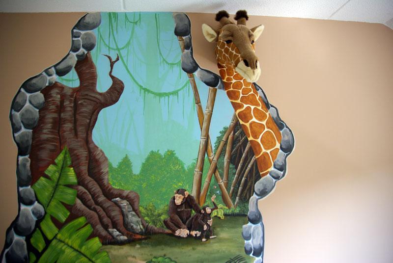 Jungle Kamer met echte knuffeldieren