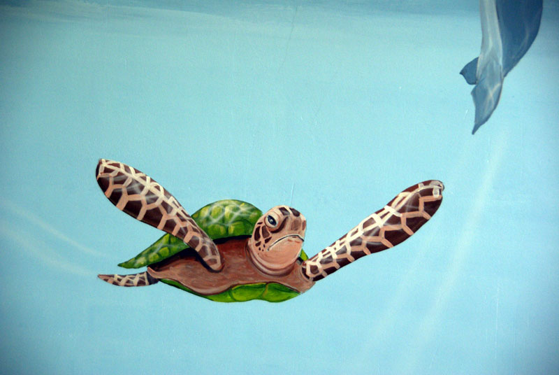 Muurschildering onderwaterkamer - Kamer van water m ...