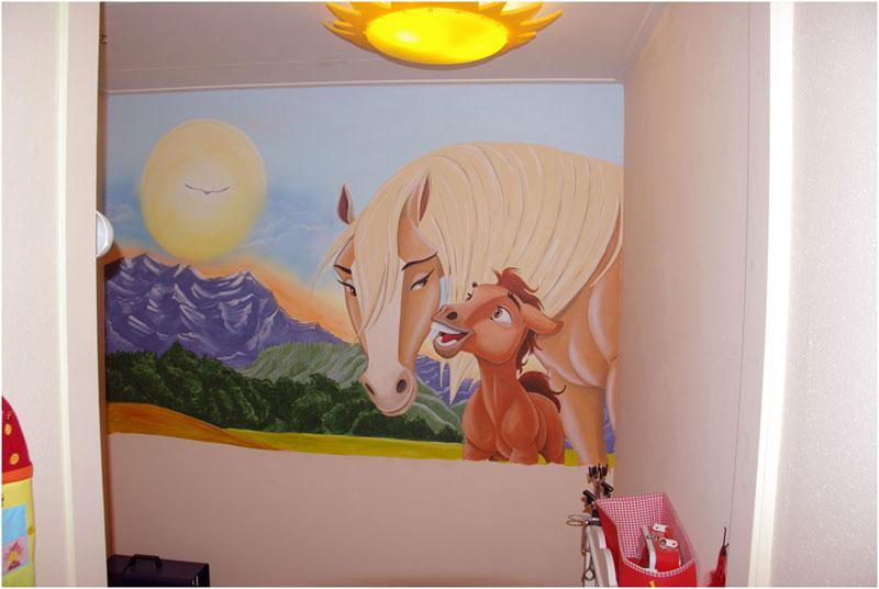 Spirit - Grijs muurschildering ...
